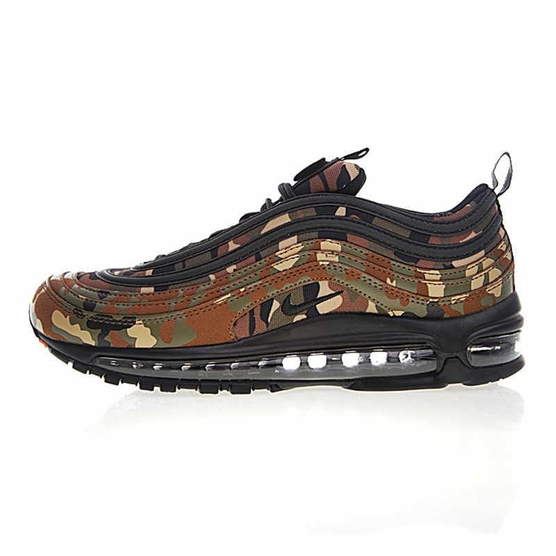31e50da9 ... Nike Air Max 97 Premium QS Мужская обувь для бега, камуфляж желтый/армейский  зеленый ...