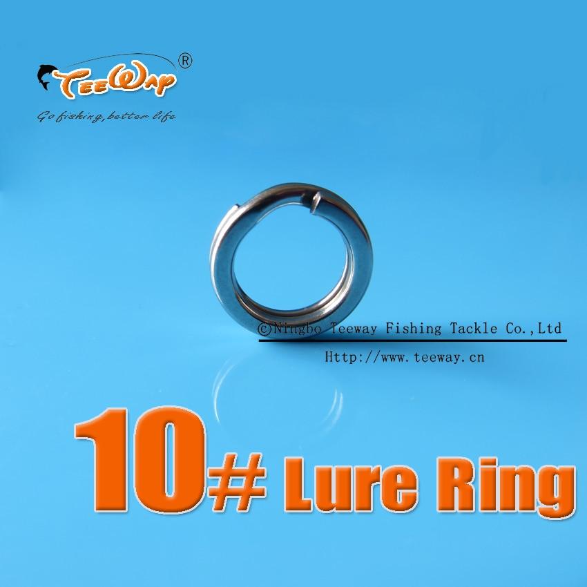 1cm 200 pcs Lure Ring Stainless Steel Split Rings for