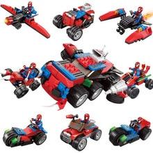 Legoinglys Spiderman Super Heroes Spider-manthor Iron Man Loki Deadpool Venom Spider Gwen Batman Avengers Building Blocks