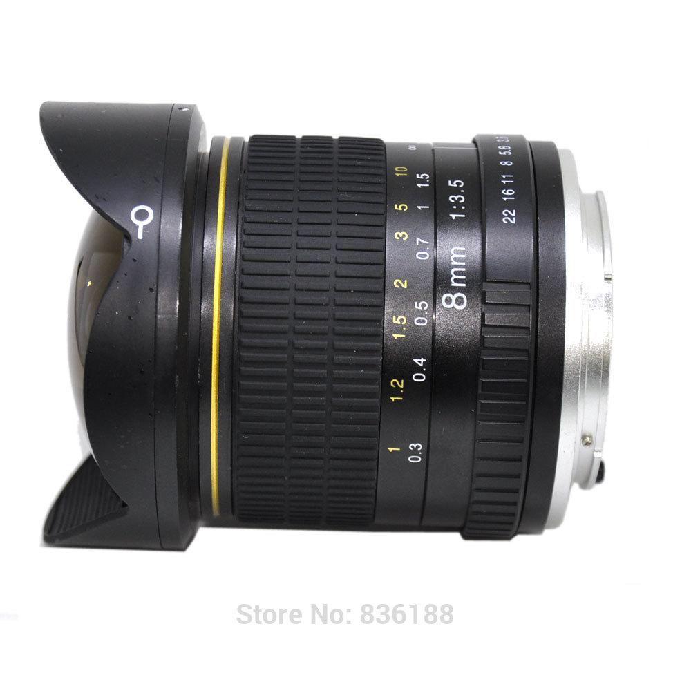JINTU Photo 8mm f/3.5 super Fisheye Lens for Nikon - Ultra Wide Angle Aspherical Lens for DSLR FULL FRAME camera 3