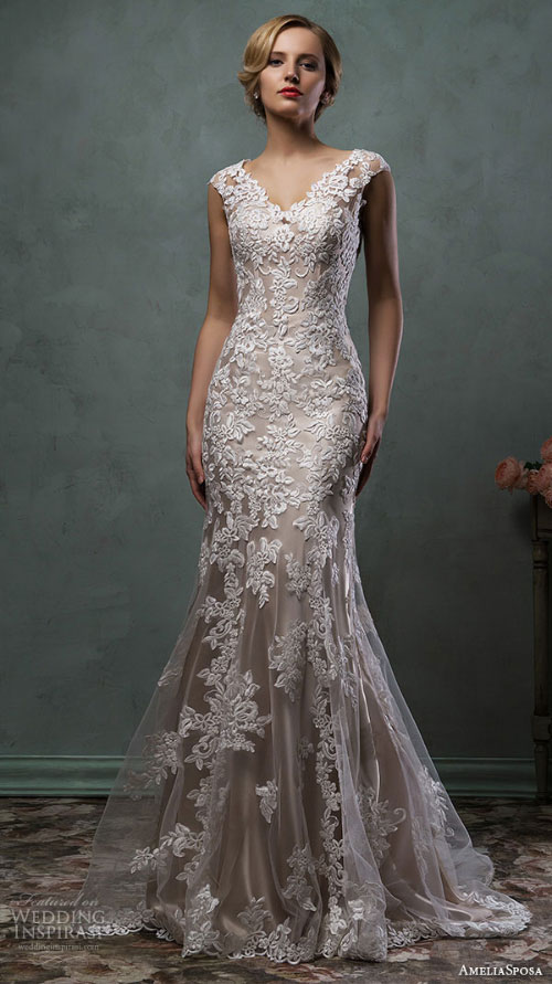 Grey Lace Wedding Gown – fashion dresses