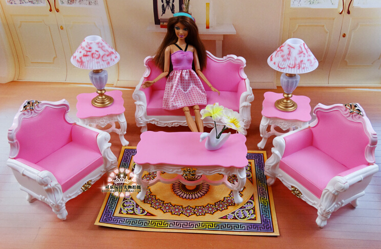 Free Shipping Girl birthday gift plastic Play Set . - Online Get Cheap Barbie Living Room Furniture -Aliexpress.com
