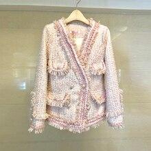 Women Tweed Blazers and Jackets High Quality Luxury Runway Fashion Designers Bea