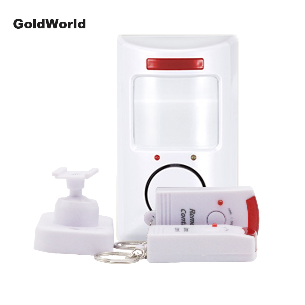 2 Remote Controller Wireless Home Security Pir Mp Alert Infrared Sensor Alarm System Anti-theft Motion Detector 105db