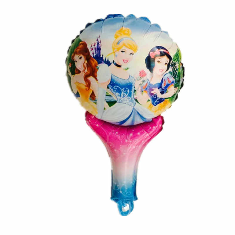 BINGTIAN Mooie Prinses cartoon hand held Folie ballon Ballonnen Prinses gedrukt handheld ballon speelgoed voor Kid Gift party