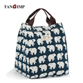 TANGIMP Hedgehog Whale Bear Lunch Box Portable Insulated Thermal Cooler Food Storage Containers Carry Bag Travel Picnic Handbags