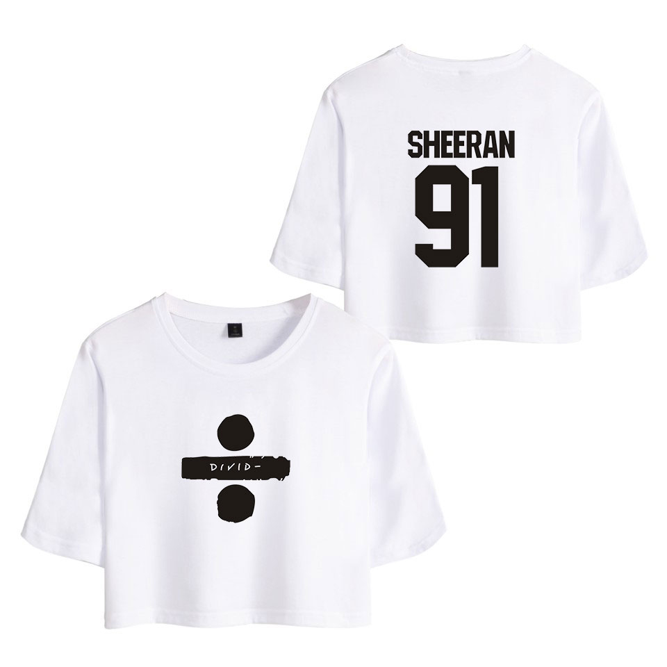 162e0cb120d Cheap Ed Sheeran Hip Hop impreso mujeres verano Crop Tops manga corta moda  camisetas 2018 Venta