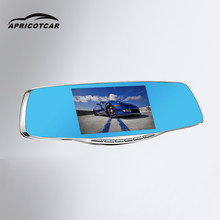 Portable Auto DVR 5 Inch Rearview Mirror Car Driving Recorder 1080P Night Vision Dual Lens Dashcam Camcorders Dash Cam(China)