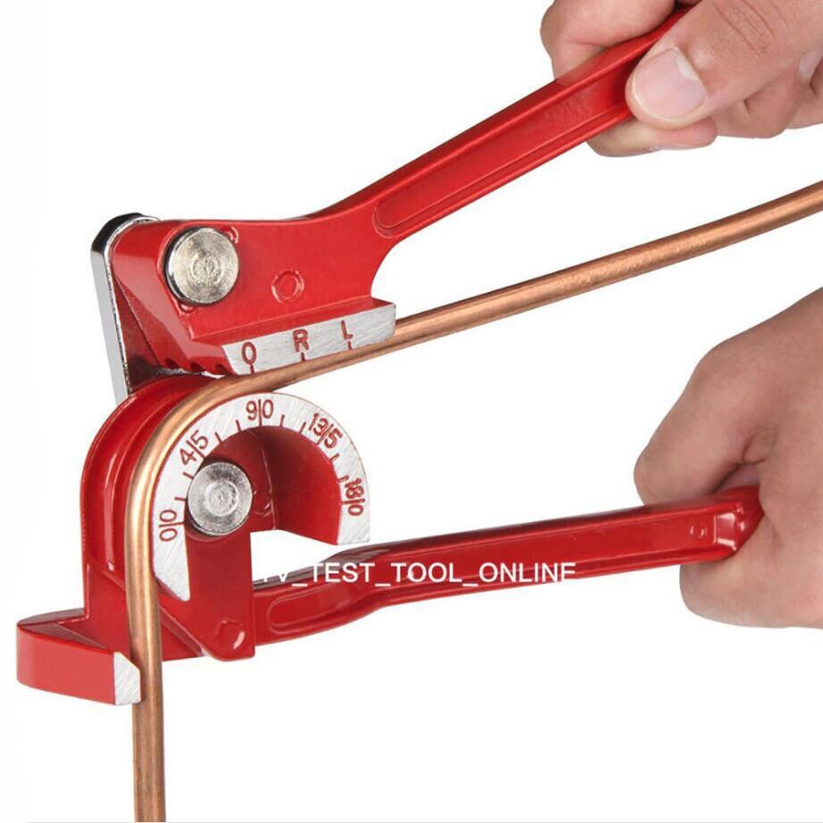 TKDMR 3 In 1 180 Degree Tube Pipe Bender Plumbing Copper Aluminum Pipe Bending Tool with 5pcs Spring Bending Tube1/4 5/16 3/8