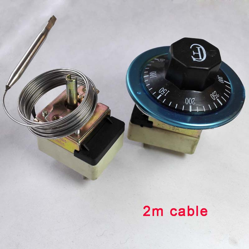 30-110/50-300 centigrade ceramic base mechanical thermostat with 2m cable water heater temperature switch