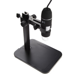 Portable USB Digital Microscope 1000X 8 LED 2MP Endoscope Magnifier Camera HD CMOS Sensor + Lift Stand + Calibration Ruler