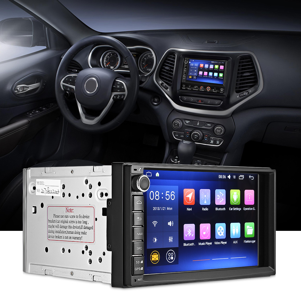 J – 2820N Universal Android 6.0.1 Quad-core 7-inch GPS WiFi DVR Car DVD Player