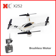 XK X252 5.8G FPV With 720P 140 Degree Wide-Angle HD Camera Brushless Motor Highlight LED Lights 7CH 3D 6G RC Quadcopter RTF xk x300 5 8g hd 720p fpv quacopter rtf white