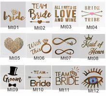 MTALL Escolher você gosta do Bachelorette Party Flash de Ouro Tatuagem Temporária melhor Escolha Para A Festa de Despedida, Do Partido de Galinha, ou Stagette
