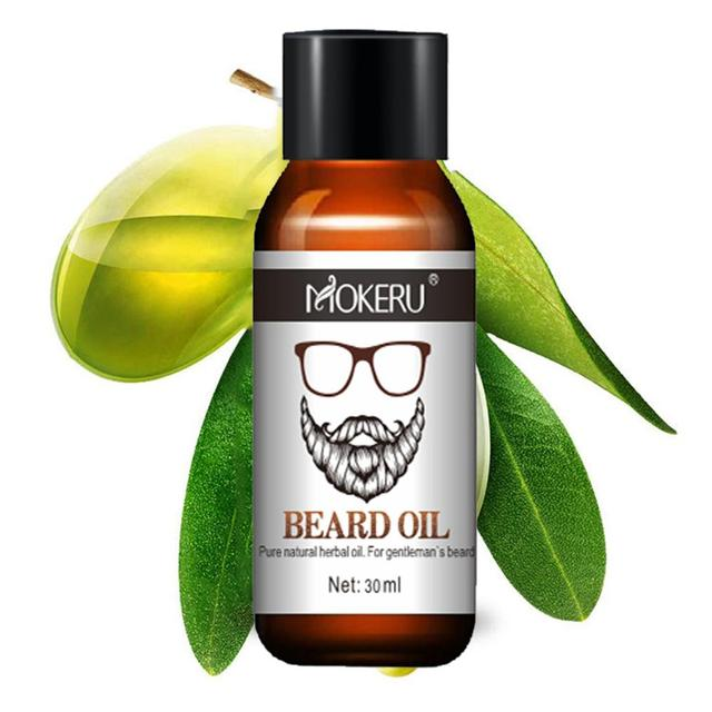 Mokeru 100% Natural Organic Men Beard Growth Oil Products Hair Loss Treatment Conditioner For Groomed Fast Beard Growth 30ml