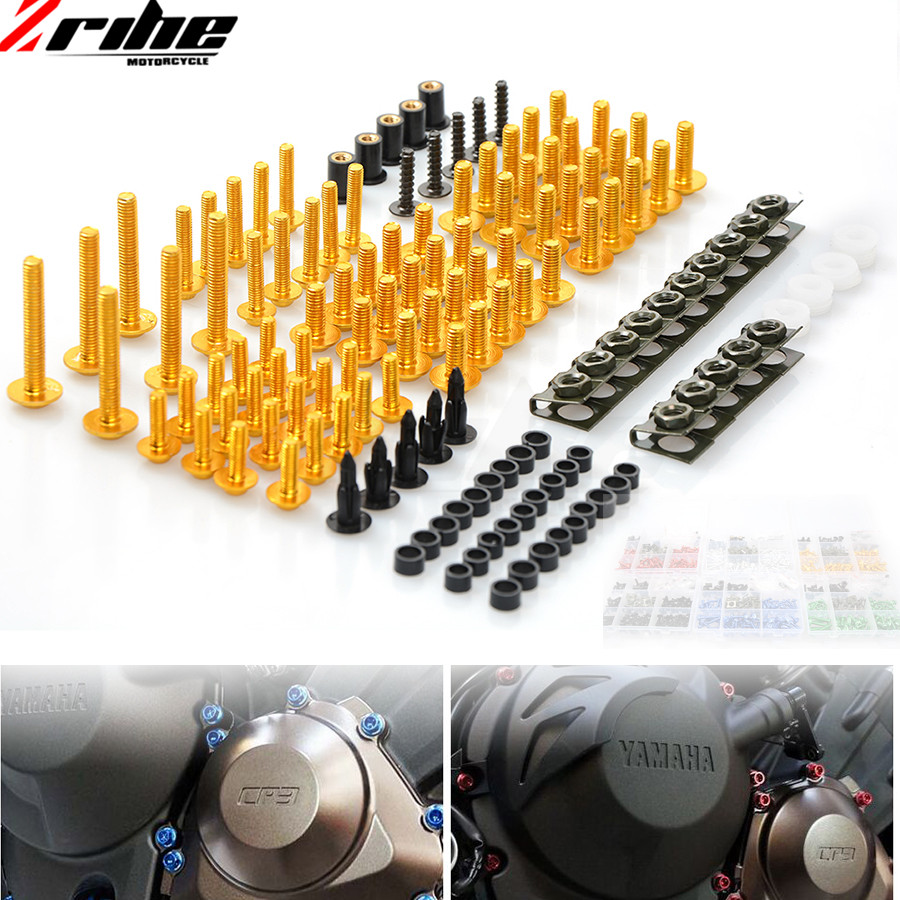For Yamaha YZF R6 TMAX 500 2004 2005 2006 2007 2008 2009 2010 2011 YZFR6 Universal Motorcycle Fairing Body Bolts Spire Screw Nut motorcycle accessories custom fairing screw bolt windscreen screw for yamaha yzf r1 r6 2005 2006 2007 2008 2009 2010 2011 2012