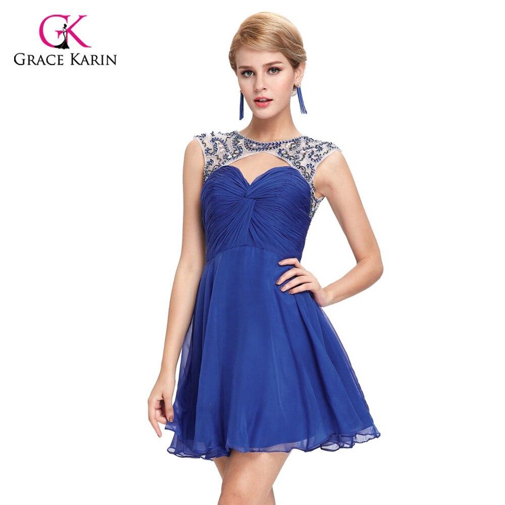 Grace Karin Cheap Short Girls Prom Dresses 2017 Crystal Beaded Knee ...