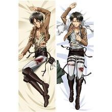 Novo anime shingeki não kyojin decoração fronha capa ataque em titan levi rivaille abraçando corpo fronhas capas de cama