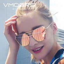 VMORS Ladies Pink Mirror Sunglasses Women Luxury Brand Female 2018 Sun Glasses For Women Fashion Pilot
