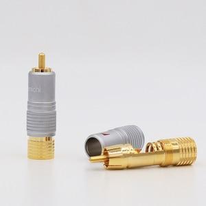 Image 2 - 8 pièces Nakamichi 24K plaqué or RCA connecteur de câble Audio