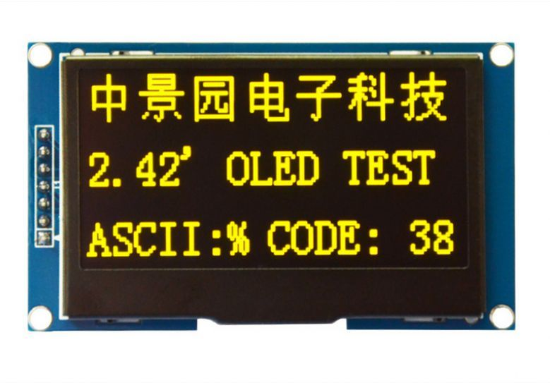 Wholesale 5pcs 2.42 12864 OLED Display Module SPI Serial FOR Ardui C51 STM32 Yellow