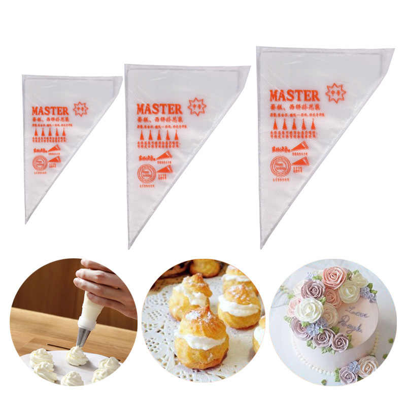 Hoomall 100/200/300pcs Disposable Pastry Bag Icing Piping Cake Cupcake Decor Bags Fondant Cake Cream Pastry Tip Baking Tools