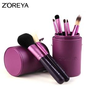Image 3 - Zoreya makyaj fırçaları profesyonel toz dudak allık vakfı kirpik fırça seti göz farı kozmetik araçları