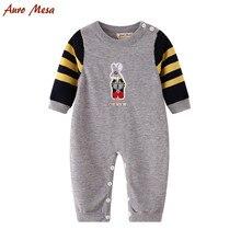 Fashion Spring Newborn Knitting Romper Embroidered Rabbit Boy Jumpsuit Cotton Infant Costume Outerwear