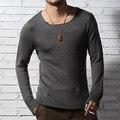 Mens suéteres Jersey de Lana Suelta de Punto Camisa de la Cachemira Suéter Hombres Ropa de Marca de Calidad Casual 2016 Nuevo Estilo de Otoño de primavera