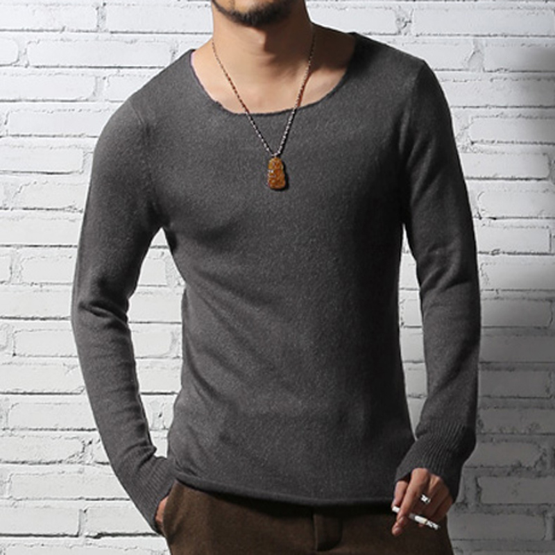 Mens Sweaters Wool Pullover Loose Knitted Sweater Men