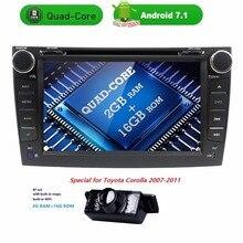 2 din android 7.1 car radio For Toyota corolla 2007 2008 2009 2010 2011 in dash1024*600 autoradio gps multimedia head unit 2GRAM