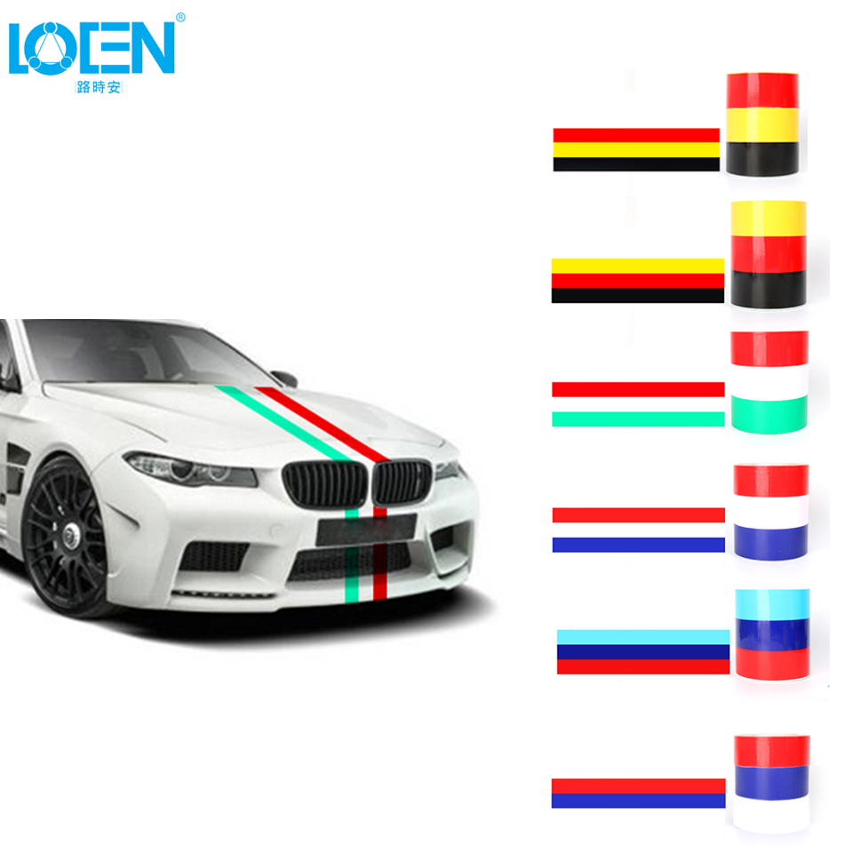 15cmx500cm car styling the whole body national flag pvc diy decorative stickers car accessories for ford toyota mazda bmw