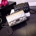 Mujeres forman los bolsos 2016 nueva ola de europa y americana acolchadas cadena bolsa pequeño paquete cuadrado bolso de hombro Messenger Bag
