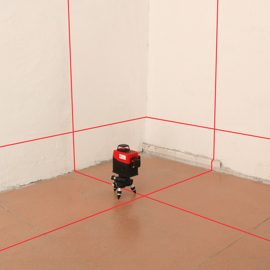 Kaitian Laser Level Stativ 3D 12 Linien Selbst Nivellierung Horizontale & Vertikale Kreuz Leistungsstarke 360 Halterung Rote Linie Nivel laser Empfänger