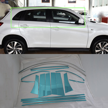 Car Parts Stainless Steel window frame cover 18pcs Styling accessories For Mitsubishi 2013 ASX