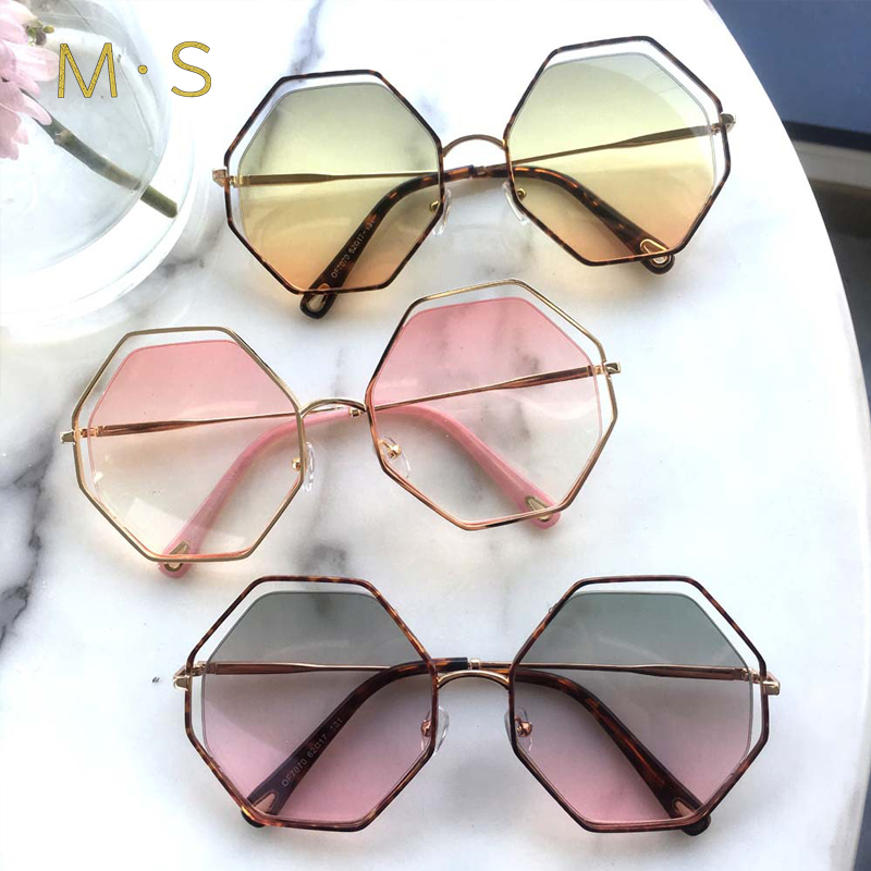 MS Sunglasses Women 2018 Classic Brand Designer Sunglasses High Quality Eyewear New Trendy Sunglasses Case