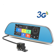 3G WCDMA 7″ Car DVR Bluetooth Android Rearview Mirror Car Camera GPS Navigation Wifi Vehicle Dash Cam Dual Lens Full HD1080P