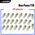 KJAUTOMAX 20pcs T10 5SMD 5050 LED Bulb 168 194 501 W5W Car Auto License Plate Clearance Position Marker lights Free Shipping