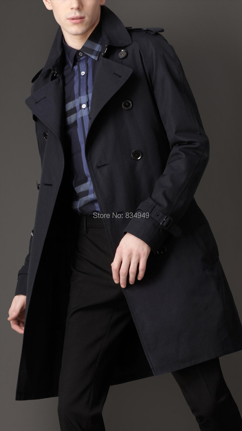 Compare Prices on Mens Blue Trench Coat Long- Online Shopping/Buy ...