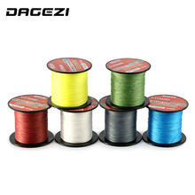 DAGEZI 20-90LB BRAIDED fishing lines With Gift  4 strand 300m Super Strong  Multifilament 100% PE Braided Fishing Line
