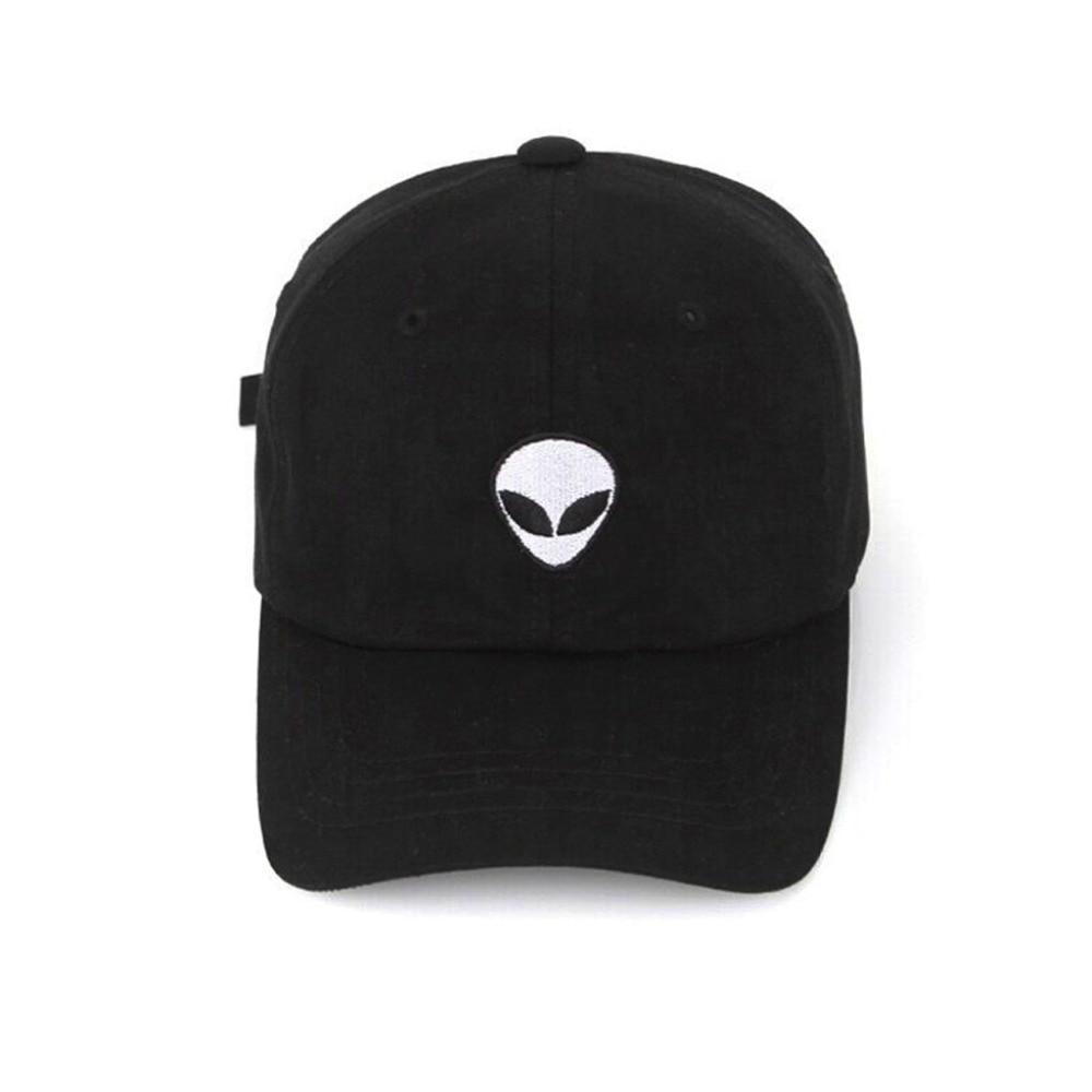 2018 New Damn Alien Embroidery   Baseball     Cap   Cotton Adjustable Outdoor Hat Lovers Hat Korean Style Harajuku Hat