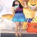 2016 новый стиль Лето одно плечо сексуальный и элегантный знаменитости Женщины Лето bandge Платье красочные платья повязки AA-380