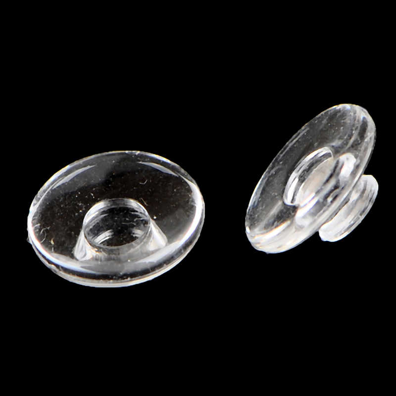 10 Pasang Kacamata Bantalan Hidung Clear Anti-Slip Silikon Lensa Kaca Mata Hidung Pad