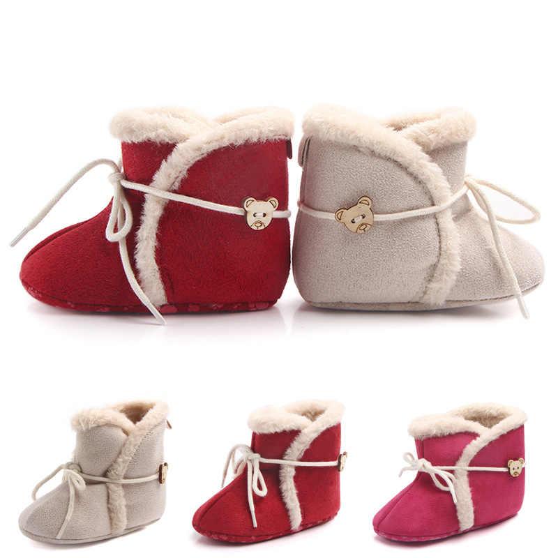 New Cute Bear Snow Baby boots Crib Bebe