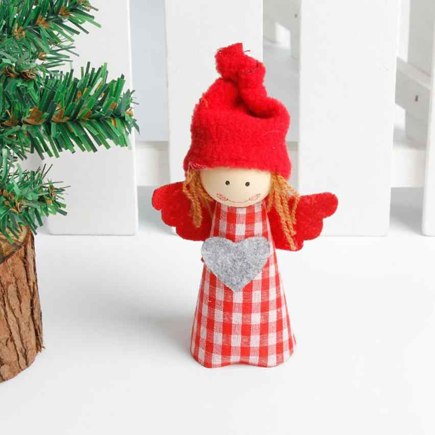 Christmas Tree Decoration Snowman Angel Ornament Holiday Small Gift Dolls Red Gift Supplies christmas decorations for home C3082