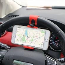 Рулевого колеса автомобиля мобильного телефона гнездо стенд для KIA RIO Ford Focus hyundai IX35 Solaris Mitsubishi ASX Outlander Pajero