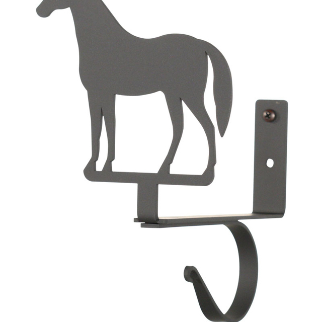 Village Wrought Iron Horse – Curtain Shelf Brackets