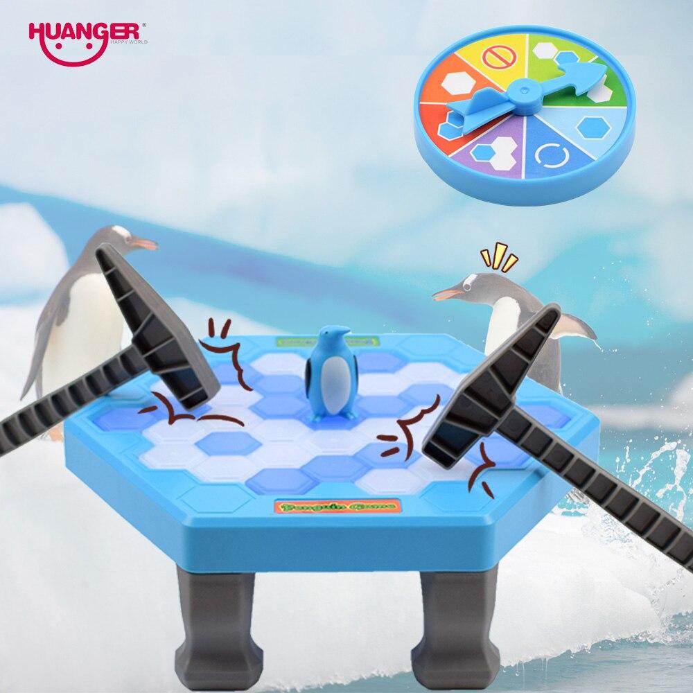 Huanger ледокольной родители-дети забавные игрушки Семья сохранить Пингвин настольные игры детей кубики льда Игрушки-приколы