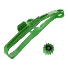 Green Chain Slider Guide Swingarm Roller For KAWASAKI KXF250 KXF450 KX250F KX450F KXF 250 450 Motorcycle 2009-2016 swingarm chain slider with guard guide roller for kxf kx250f kx450f 09 16 dirt bike off road motocross motorcycle free shipping