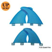 Quad fins set FCS Fins surfboard quad G5+GL 4PCS per Set hot Selling quillas